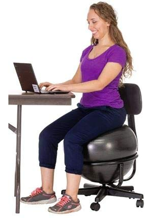 FLAGHOUSE Ball Chair with Exercise Ball by FLAGHOUSE