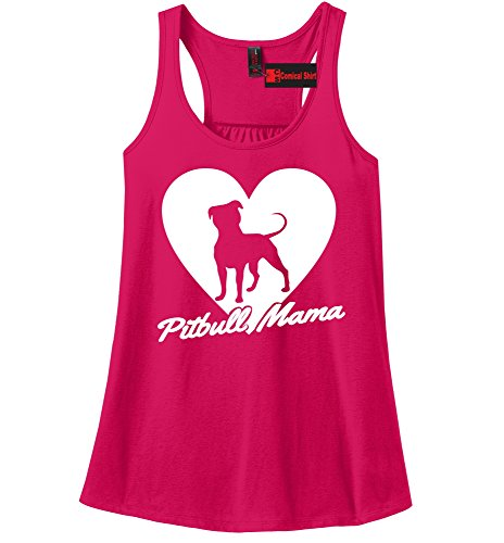 Comical Shirt Ladies Pitbull Mama Tee Pitt Bully Dog Lover Gift Tee Watermelon XL (Watermelon Pits)