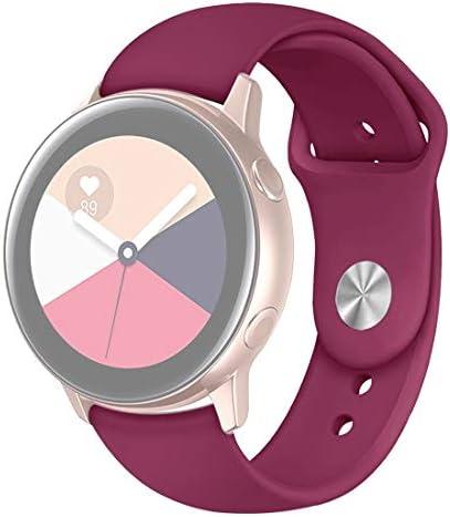 時計アクセサリー サムスンギャラクシーウォッチActive2 Bluetoothバージョン40ミリメートルのスマートウォッチソリッドカラーシリコンリストストラップ時計バンドのために (色 : Wine Red)