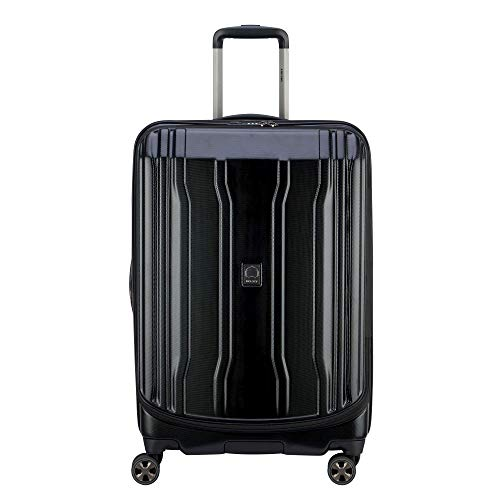 DELSEY Paris Luggage Cruise Lite Hardside 2.0 25' Checked Lightweight Suitcase, Black
