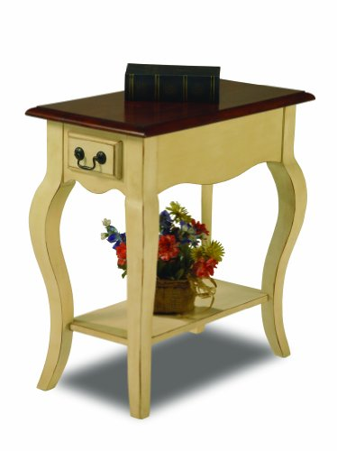 Leick Chair Side End Table, Ivory - End Table Cherry Country