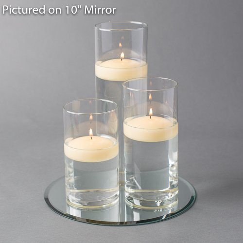 Holders Floating Candles (Eastland Round Mirror and Cylinder Vases Centerpiece with Richland Floating Candles 3