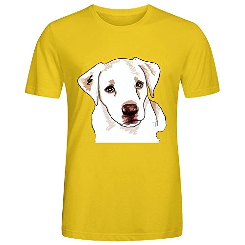 Price comparison product image Golden Retriever Men Tees Yellow