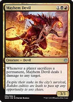 Magic: the Gathering - Mayhem Devil - Diavolo del Pandemonio - War of The Spark: Amazon.es: Juguetes y juegos