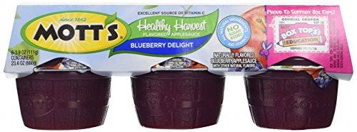 Motts Healthy Harvest (Motts Inc Flavored Apple Sauce, Blueberry Delight , 23.4 oz)
