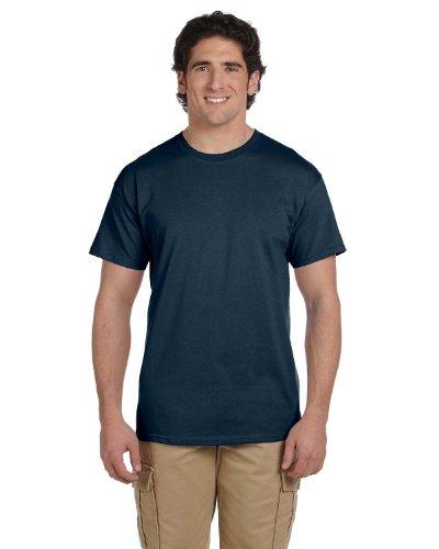 Gildan Men's Seamless Double Needle T-Shirt, Blue Dusk, -