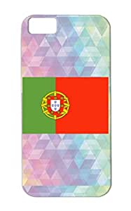 Portugal Flag Anti-shock Countries Flags Football Cities World Cup Supporter FIFA Soccer TPU Case For Iphone 5c Black