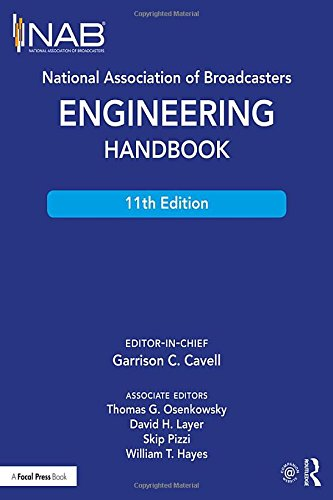 The NAB Engineering Handbook is the definitive resource for broadcast engineers. It provides in-depth information about each aspect of the broadcast chain from audio and video contribution through an entire broadcast facility all the way to the anten...