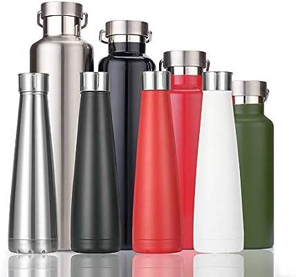 KAILH Botella Agua de Acero Inoxidable sin BPA 500/600/750/1000ml ...