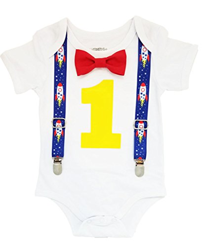 Noah's Boytique Space Rocket Astronaut Theme First Birthday