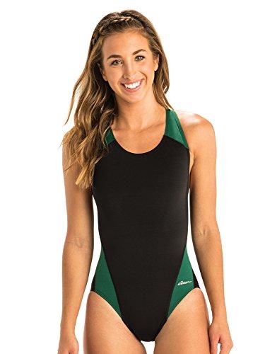 Dolfin Women's Ocean Color Block Performance Back | AMZ7707S (38, Green)