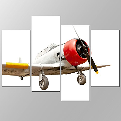 Old Plane Canvas Prints Wall Art Airplane Painting Picture Framed ...