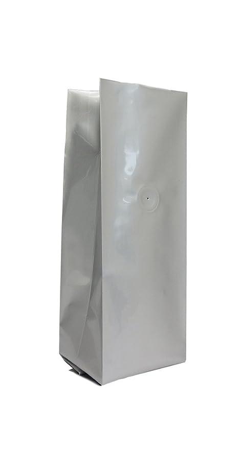 Amazon.com: 8 oz. Bolsa de papel de aluminio plateado con ...