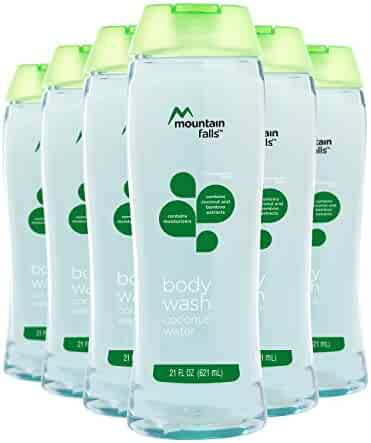 Mountain Falls Body Wash, Coconut Water, with Coconut and Bamboo Extracts, Compare to Dial, 21 Fluid Ounce (Pack of 6)