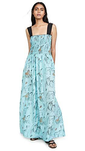 Rachel Antonoff Women's Clarice Smock Tank Dress, Horse Print, X-Small
