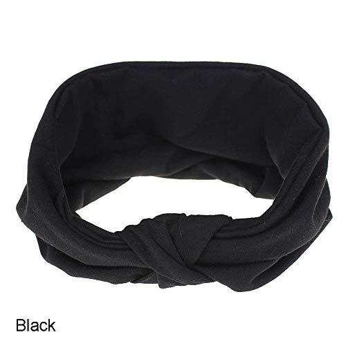 - MOPOLIS Women Sports/Yoga Elastic Twisted Turban Knot Head Wrap Headband Hair Band | Color - Black