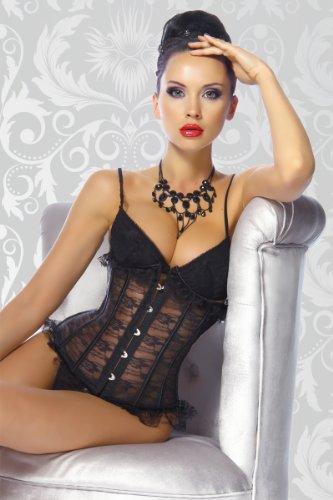 Angies Noir Glamour Fashion Bustier Femme wOrv7wq