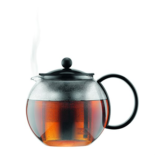 -[ Bodum ASSAM Tea Maker (French Press System, Permanent Stainless Steel Filter, 0.5 L/17 oz) - Bla