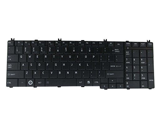 (SUNMALL Keyboard Replacement Compatible with Toshiba Satellite C650 C650D C655 C655D C660 C660D C665 C665D L550 L550D L650 L650D L655 L655D L670 L670D L675 L675D L770 L750D L755 B350 Series)