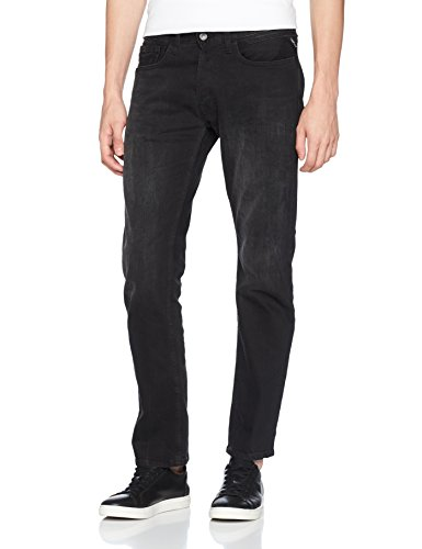 Denim Nero Newbill black 7 Uomo Dritto Replay Jeans qTw8YYI