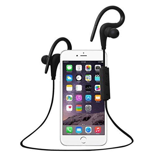 TOOPOOT Bluetooth Stereo Sports Headphones for ipad Iphone Samsung (Black1)