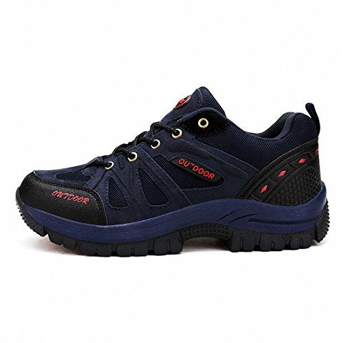Ben Sports Zapatos para Trekking al aire libre para hombre más el Tamaño Azul marino