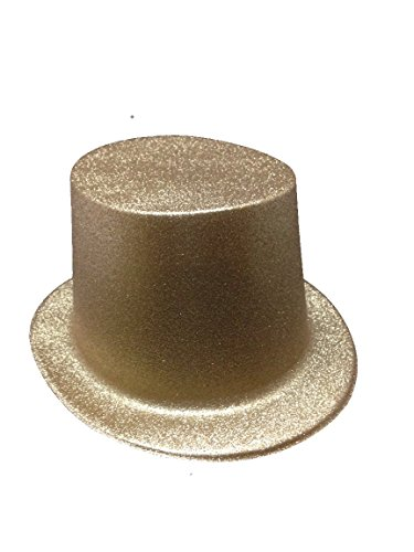 Gold Glitter Top Hat for Adults Lot of 12 Hats ()