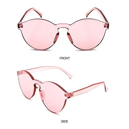 transparente Aolvo Gafas Transparente Rosa de unisex transparentes sin sol coloridas borde elegantes H6HrqzR