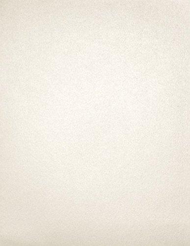 8 1/2 x 11 Cardstock - Quartz Metallic - White - Pack of 50