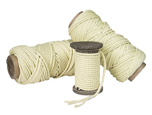 FMS Ravenox by 100% Kevlar Rope and Twine | (Twisted)(3/16-in x 10 FT) Kite String, Winch Lines, Spear and Fishing Line, Bug out Bags, Utility Rope | Braided or Twisted | Made in the USA 100% Kevlar String