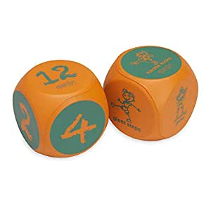 Kidnasium Activity Fitness & Exercise Dice | Fun Educational Classroom Gym Learning Game for Kids 5 and Up | Soft Rolling Cubes for Active Boys & ...