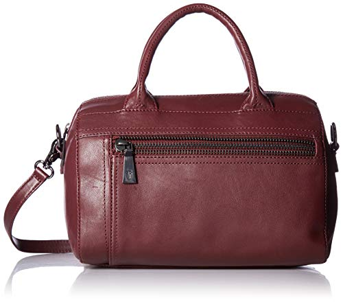 FRYE Lena Zip Leather Satchel Bag, Wine