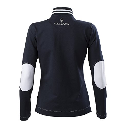 Maserati Sweat-shirt bleu avec boutons pour femme