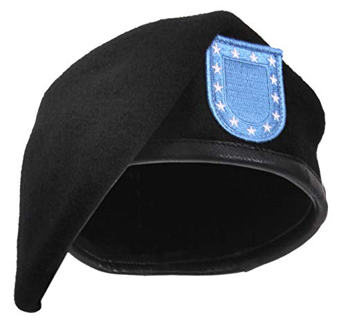 Rothco Inspection Official Flash Ready Beret, Black, 7.75