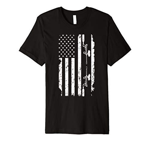 American Flag Paintball T-shirt for Men Women Paintball Gift