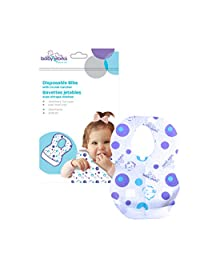 Baby Works Disposable Bibs with Crumb Catcher - 12pk
