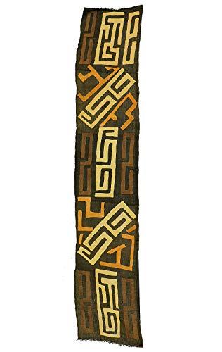 Kuba Handwoven Textile Appliquéd Raffia Congo African Art