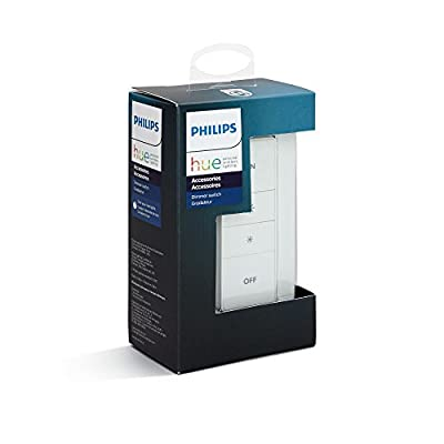Philips Hue Smart Dimmer Switch with Remote (Installation-Free, Exclusive for Philips Hue Lights)