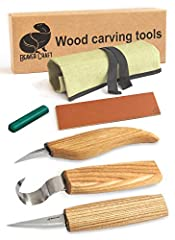 At the time we started manufacturing wood carving tools we figured out that there is no proper wood carving set that could cover needs of carving spoons and delicate wood cutting and whittling & roughing wood out, at the same time sharpen...