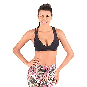 3153a71f4c7 Image Unavailable. Image not available for. Color: Liquido Active Women's  The X-Factor Bra Black Small