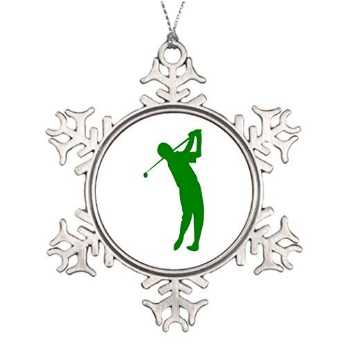 OneMtoss Christmas Snowflake Ornament Ideas for Decorating Christmas Trees Golf Photo Snowflake Ornament Club De Poner ()