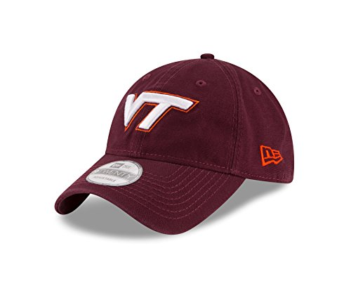 Virginia Tech Hokies Cap (NCAA Virginia Tech Hokies Unisex New Era NCAA Core Shore Primary 9TWENTY Adjustable Cap, Maroon, One)