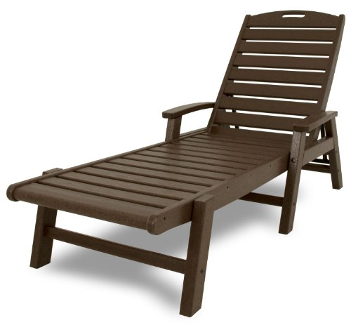 Trex Outdoor Furniture Yacht Club Stackable Chaise Lounger with Arms, Vintage Lantern ()