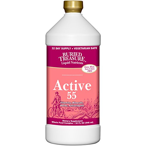 Buried Treasure Active 55 Plus Daily Vitamins Minerals Antioxidants and Herbal Blend for Active Adults 32 oz - 4 pack (4)