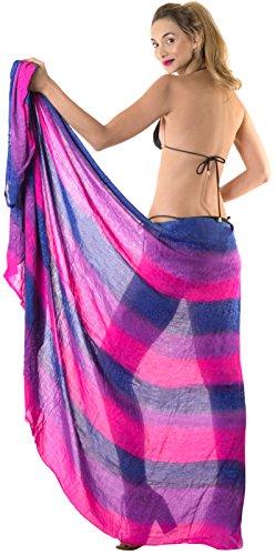 swimwear portafoglio bagno dye a bikini gonna tie dello spiaggia LA costume j980 mano coprire del Rosa LEELA da qBwnxYZ