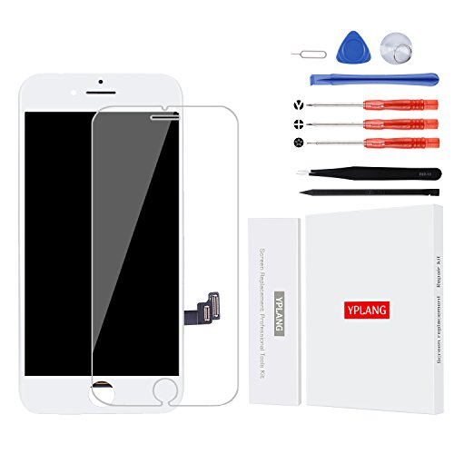 for iPhone 7 Screen Replacement White - iPhone LCD Display 3D Touch 4.7 inch Touch Digitizer Frame Assembly Replacement Include Free Repair Tools Kits (7 Plus-Black)