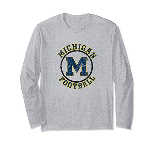 Vintage Michigan Football Long Sleeve T-Shirt