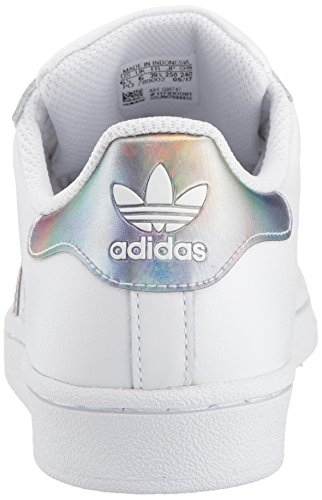 adidas Kids' Superstar J Sneaker, White/White/Gold Metallic, 4.5 M US Big Kid by adidas (Image #2)