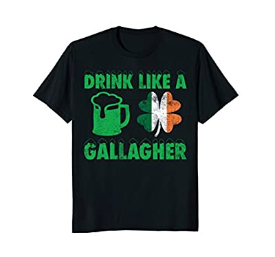 Funny St Patrick's Day Drinking T-Shirt, Distressed Gift Tee