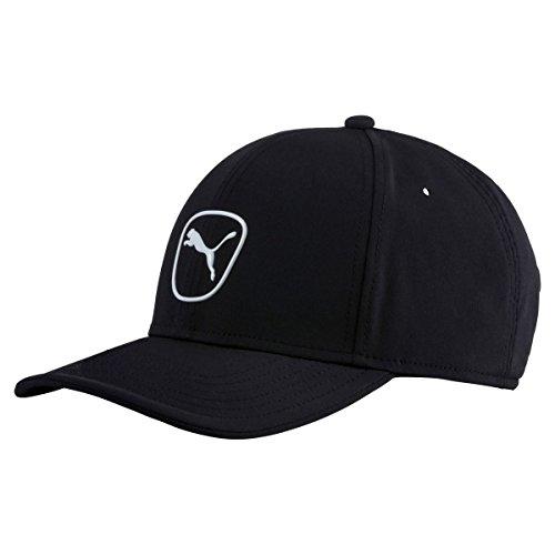 PUMA Golf 2017 Men's Tech Cat Patch Hat (Black-White, One Size)